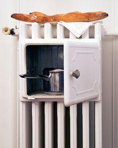 : : Saša Antić - Interior stylist, fashion & props : : radiator with built in stove! Mini Loft, Yanko Design, E Design, Interior Stylist, Interior Design, Swedish Interiors, Tiny Living, Space Saving, Tiny House