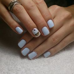 Beautiful gel polish for manicure, Delicious nails, Gentle gel polish for manicure, Gentle summer nails, Ice-cream nails, July nails, Light blue nails, Manicure by summer dress