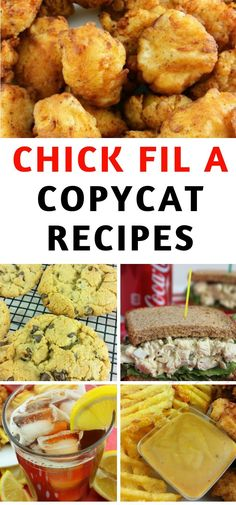 Best Chick Fil A Copycat Recipes My family loves to eat at Chick Fil A and now we don't have to leave the house to enjoy it. Use a Chick Fil A copycat recipe listed here! Chick Fil A Recipe Copycat, Copycat Recipes, Dog Recipes, Cooking Recipes, Healthy Recipes, Recipies, Restaurant Recipes, Dinner Recipes, Dinner Ideas