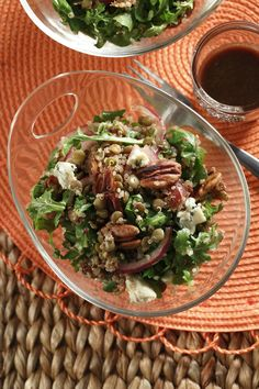 Quinoa & Lentil Salad with Walnuts, Dates & Blue Cheese