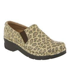 Take a look at this Tan Leopard Naples Slip-On Shoe by Kravings by Klogs on #zulily today!