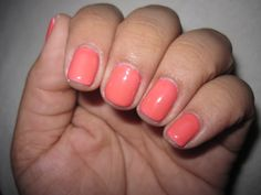 CND shellac tropix layered with Romantic