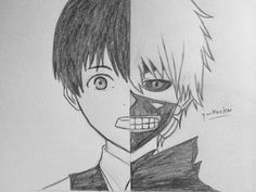 Kaneki ken tokyo ghoul the two side of kaneki. Manga Tokyo Ghoul, Tokyo Ghoul Drawing, Ken Tokyo Ghoul, Dark Art Drawings, Anime Drawings Sketches, Anime Sketch, Cartoon Drawings Of People, Cartoon Girl Drawing, Tokyo Ghoul Dibujos