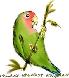 lovebird art - Google pretraga