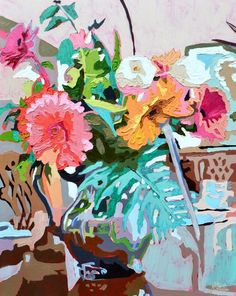 Sally by Kate Mullin | artsy forager #art #paintings #flowers