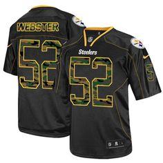 8465effbb Mike Webster Men's Elite Black Jersey: Nike NFL Pittsburgh Steelers Camo  Fashion #52