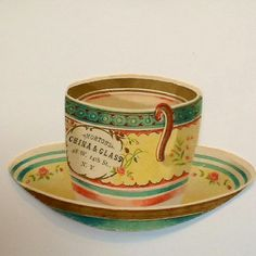 American trade card Morton's china and glass