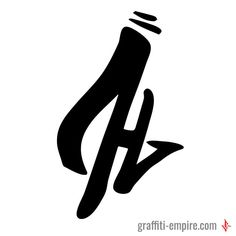 H Graffiti Letter Tag with big serif | Graffiti Lettering