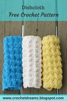 Free crochet pattern for a dishcloth or washcloth