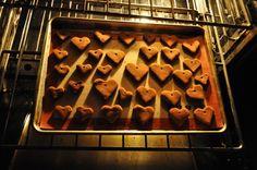 cinnamon hearts in oven