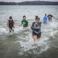 28 degrees, time to go for a swim at Prairie Creek Reservoir during the annual Polar Plunge. #muncie #cold #winter #swim #weather #freeze #frozen #water #weird #crazy #newyear #ice #outdoors - Jordan Kartholl