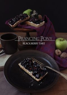 The Lord of the Rings The Hobbit Blackberry Tart Recipes Food from Middle Earth Hobbit Food Blackberry Tart Recipes, Just Desserts, Dessert Recipes, Baking Desserts, Medieval Recipes, Food Themes, The Hobbit, Banquet, Food Inspiration