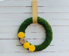 DIY Spring Moss Wreath from March issue of @Emma Zangs Zangs Magazine made by @Nicky Crowley Crowley Vender