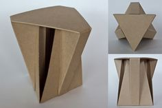 Cardboard stools dotted around the Pavilion