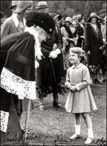 Princess Elizabeth, now Queen Elizabeth 11, and the Countess of Airlie at Glamis