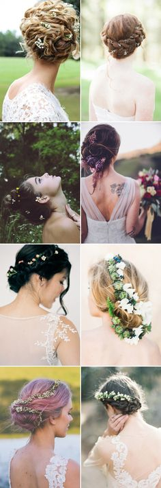 We all know that there's something utterly romantic about a bride wearing fresh flowers in her hair. Flowers make a beautiful addition to a variety of bridal hairstyles, and they are not just for your floral crown. With a few simple flowers tucked into an updo, or scattered effortlessly to create that whimsical look, your …