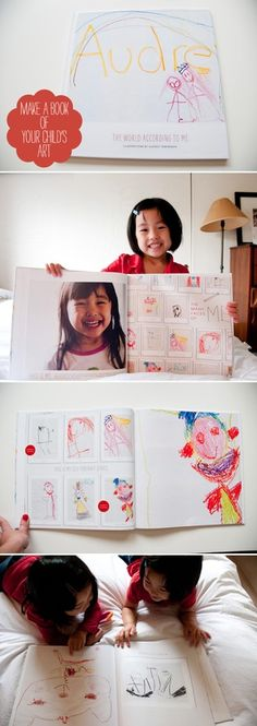 kids art work coffee table book... Note to self... Naomi, get it together and finally get one of these made!!