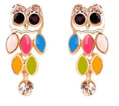 Colorful Owl Earrings,Owl Earrings,Owl ,Owl Jewelry