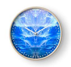 Blue Apatite Clock by lightningseeds® for crystalapertures.rocks.