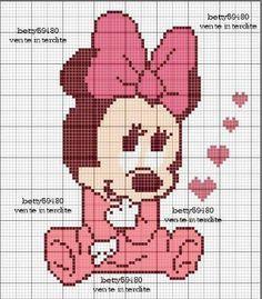 grafico da minnie baby em ponto cruz - Pesquisa Google