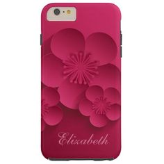 Pretty Abstract Asian Floral Design iPhone 6 Case