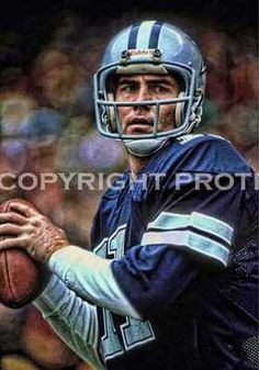 095aedc736322 Rare Danny White Cowboys Art Illus Print 12x18 LE of 50 Football Baby