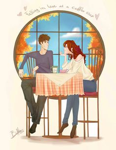 Falling in love at the coffee /ஐღ♡ღஐ