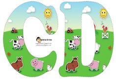 Oh my Alfabetos!: Alfabeto de la Granja. Farm Birthday, Birthday Party Themes, Happy Birthday, Alfabeto Animal, Farm Animal Party, Farm Unit, Animal Alphabet, Alice In Wonderland Party, Farm Theme