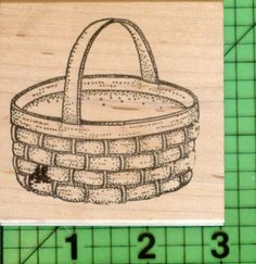 Woven Basket rubber stamp