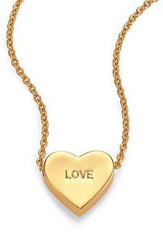 Kate Spade Dear Valentine Love Heart Pendant Necklace on shopstyle.com