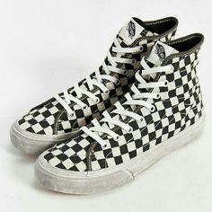 Checked Vans Looking for white and black checkered vans size 6. Vans Shoes