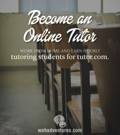 Make money online as a tutor, working your own flexible schedule.