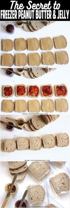 I am SO doing this for my kids school lunch box! How to make freezer peanut butter and jelly sandwiches so they aren't soggy!! Great for prepping a weeks worth of lunches at a time to save time and stress in the mornings! I can do this for school and work lunches! Sponsored by @reeses #reesesbagoftricks #cvsexclusive