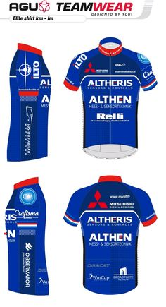DESIGN YOUR OWN cycling jersey by AGU // Customized Cycling Apparel, designed for Altheris, Leidschendam (Netherlands). Interested -> teamwear@agu.nl