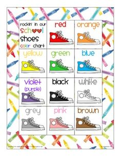 $ rockin' in our school shoes_color chart and numeral cards