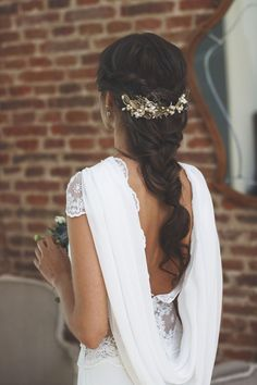 14 Stylish Wedding Braids Simple And Easy - Easy Hairstyles Wedding Braids, Short Wedding Hair, Bridal Hair Braids, Boho Bridal Hair, Bridal Headdress, Dress Wedding, Trendy Wedding, Bride Hairstyles, Greek Hairstyles