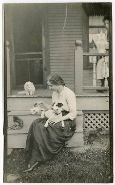 Pets. Even in the olden days.