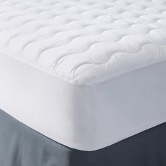 Microfiber Mattress Pad White (Full) - Room Essentials