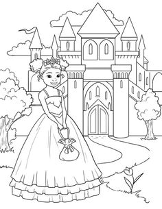 im a pretty princess free coloring pages