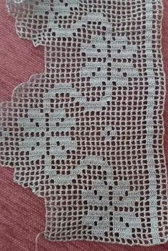 This Pin was discovered by Nil Crochet Edging Patterns, Crochet Lace Edging, Crochet Borders, Love Crochet, Crochet Patterns Amigurumi, Baby Knitting Patterns, Crochet Doilies, Crochet Stitches, Crochet Hooks
