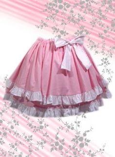 Pink Multilayer Cotton Lolita Skirt, ocrun.com