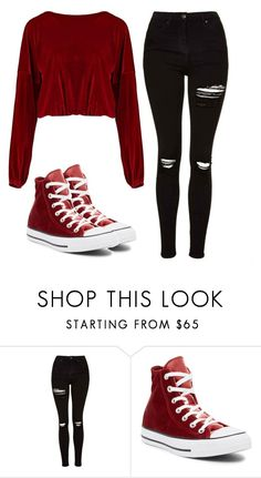 """Untitled #114"" by ejeffrey3 on Polyvore featuring Topshop, Converse and Boohoo"
