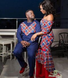 The Best Family Ankara Styles Mix Looking for the best ankara outfit that will be ok for your family? worry no more because we here at ANKARA XCLUSIVE gathered some lovely family collections of ankara styles. Couples African Outfits, African Dresses For Women, African Print Dresses, Couple Outfits, African Print Fashion, African Attire, African Wear, African Fashion Dresses, African Women