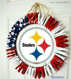 Steelers patriotic wreath