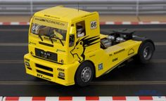 Flyslot MAN racing truck in Lion Racing livery, as driven by Ludovic Faure. Great to watch and excellent fun to drive! Real Racing, Slot Cars, Trucks, Shop, Slot Car Tracks, Truck, Store