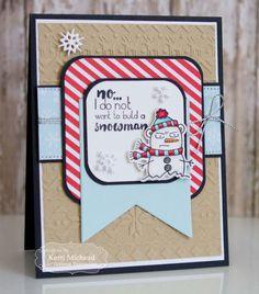 Grumpy Snowman Card by Kerri Michaud #Cardmaking, #TEMatched, #Christmas, #Grumplings, #EmbossingFolders, #LittleBitsDies, #TE, #ShareJoy
