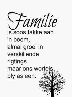 Laat my ook dink aan die teks uit Joh 15 - dat ons in HOM gewortel sal wees! Wat meer kan 'n familie/huisgesin voor bid en vra. Afrikaanse Quotes, Inspirational Thoughts, Inspiring Quotes, Quotes About God, Family Quotes, Cute Quotes, Beautiful Words, Bible Quotes, Wise Words