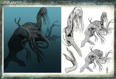 Photo by Robert Simons Leagues Under The Sea, Creature Drawings, Sea Monsters, Flora And Fauna, Kraken, Story Inspiration, Concept Art, Nautical, Witch
