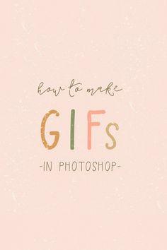 How to make animated GIFs in Photoshop ~ Elan Creative Co. - In this video tutorial, I'm going to show you how easy it is to make animated GIFs in Photoshop. Web Design, Design Logo, Design Poster, Graphic Design Tutorials, Graphic Design Inspiration, Blog Design, Vector Design, Adobe Illustrator, Illustrator Tutorials