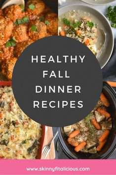 These Healthy Fall Dinner Recipes are low calorie, comforting, easy and family approved! #healthy #fall #dinner #recipe #low #calorie
